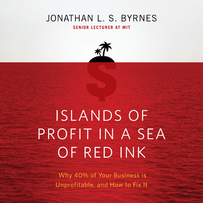 Printable Islands of Profit in a Sea Red Ink: Why 40% of Your Business is Unprofitable, and How to Fix It Audiobook Cover Art