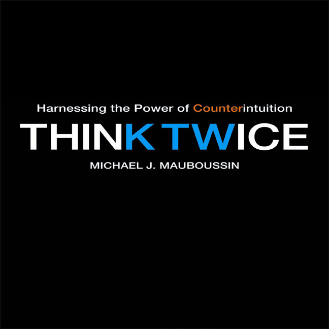 Printable Think Twice: Harnessing the Power of Counterintuition Audiobook Cover Art