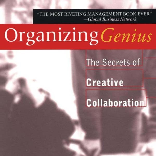 Printable Organizing Genius: The Secrets of Creative Collaboration Audiobook Cover Art