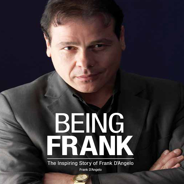 Printable Being Frank: The Inspiring Story of Frank D'Angelo Audiobook Cover Art