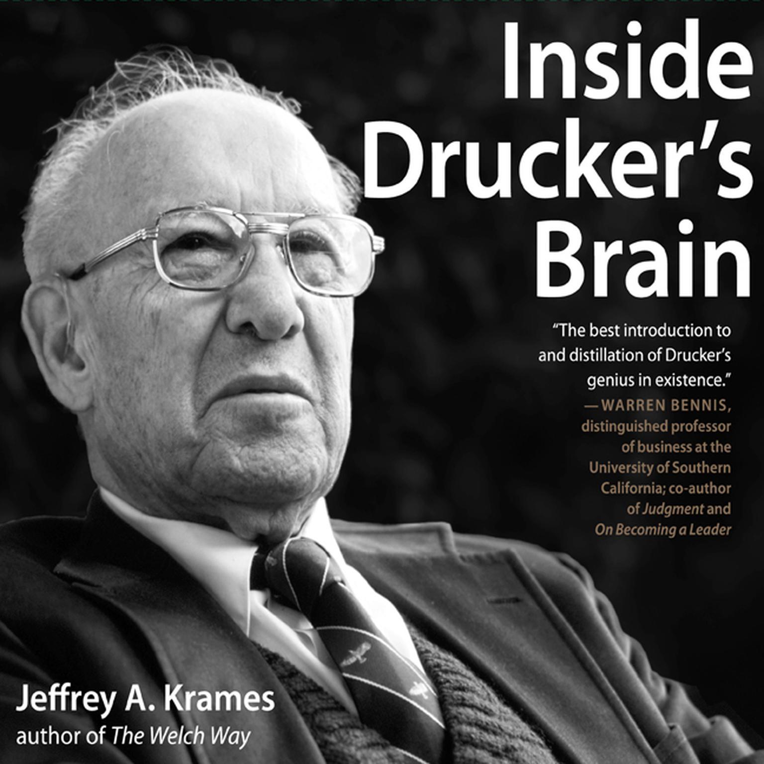 Printable Inside Drucker's Brain Audiobook Cover Art