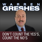 Dont Count the Yess, Count the Nos Audiobook, by Warren Greshes