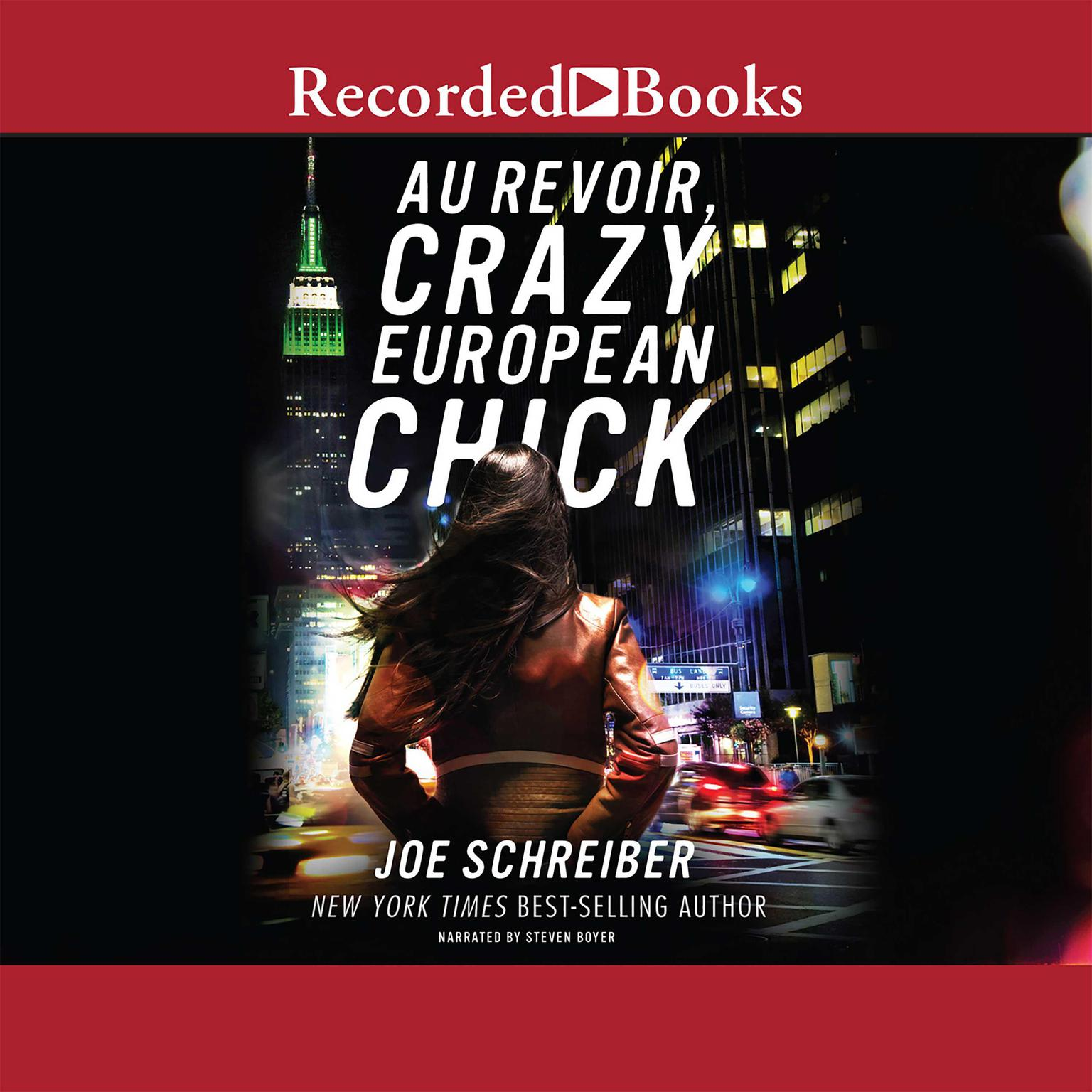 Printable Au Revoir, Crazy European Chick Audiobook Cover Art