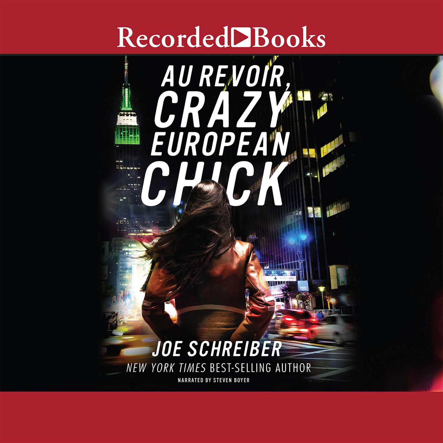 Printable Au Revoir, Crazy European Chick Audiobook Cover Art