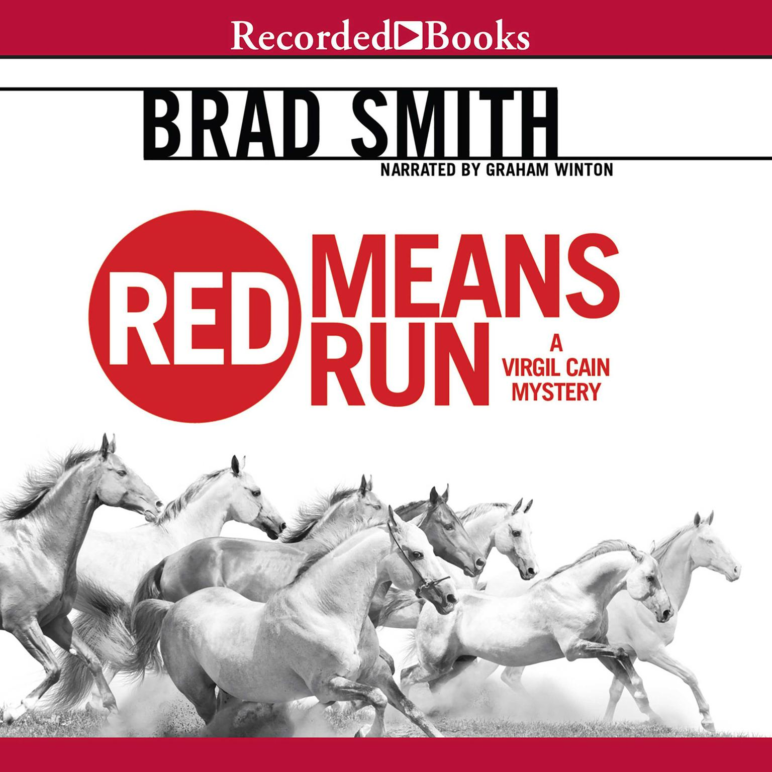 Printable Red Means Run Audiobook Cover Art