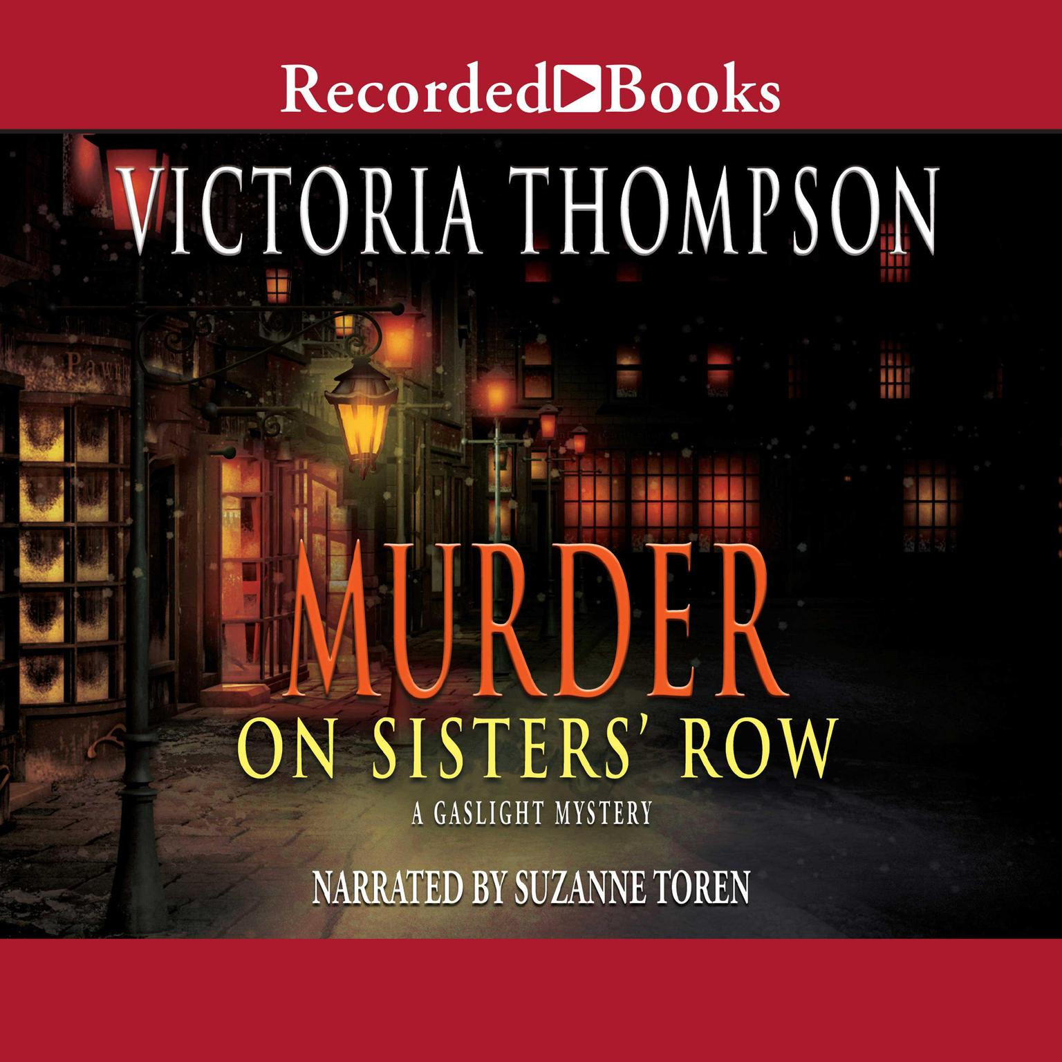 Printable Murder on Sister's Row Audiobook Cover Art