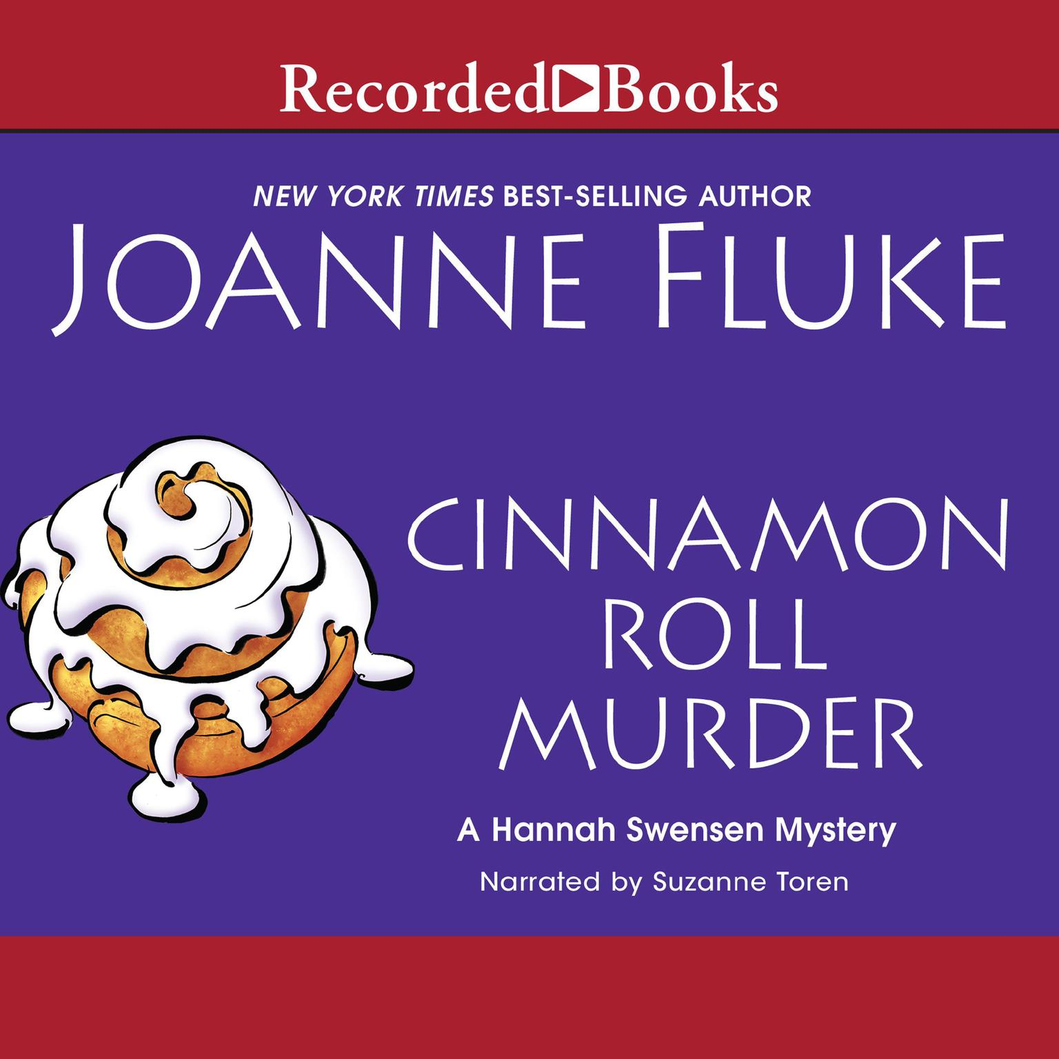 Printable Cinnamon Roll Murder Audiobook Cover Art