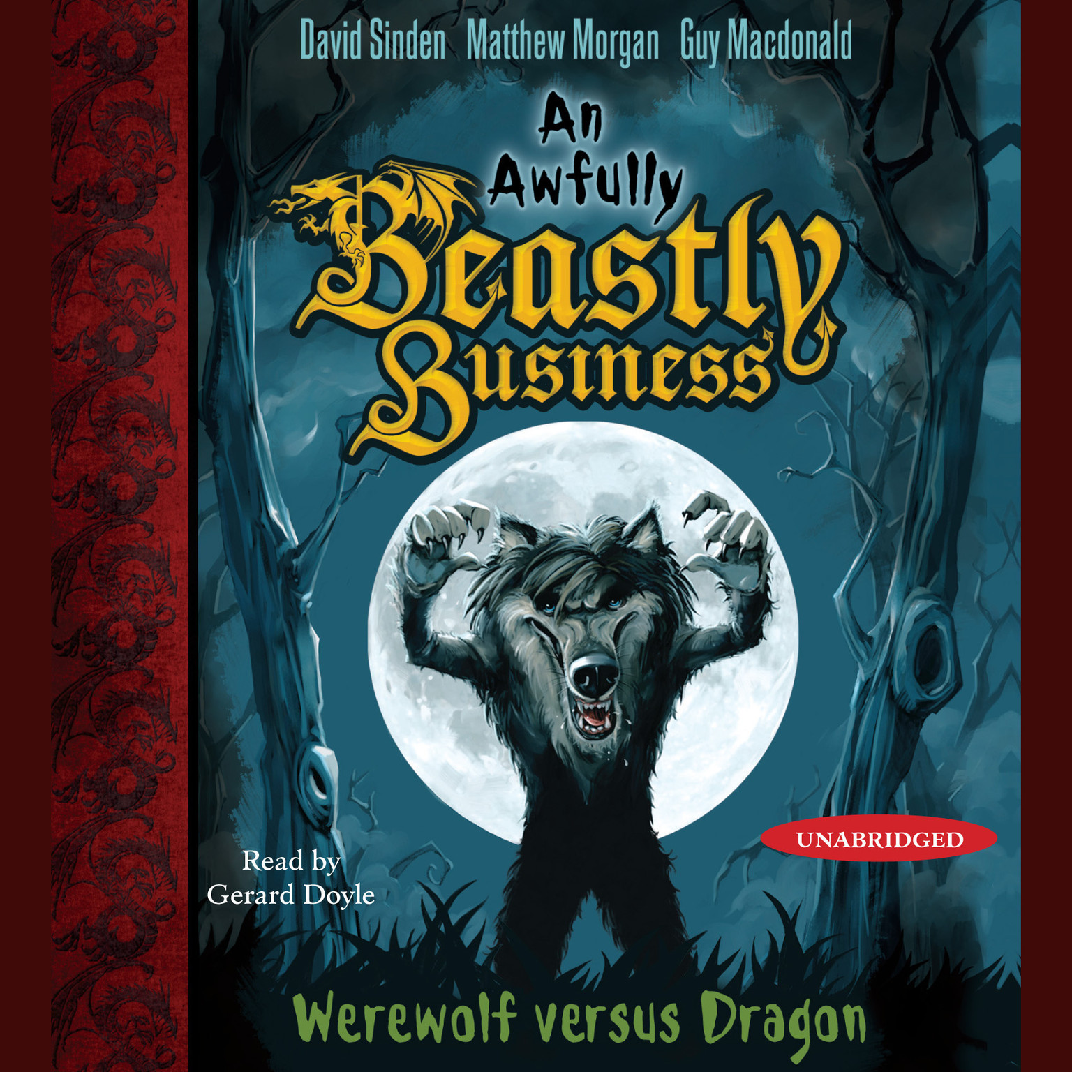 Printable Werewolf versus Dragon: An Awfully Beastly Business Book One Audiobook Cover Art