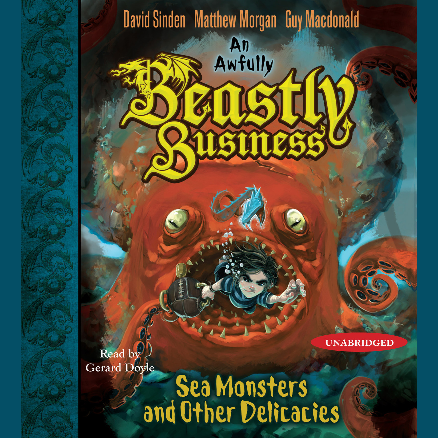 Printable Sea Monsters and Other Delicacies: An Awfully Beastly Business Book Two Audiobook Cover Art