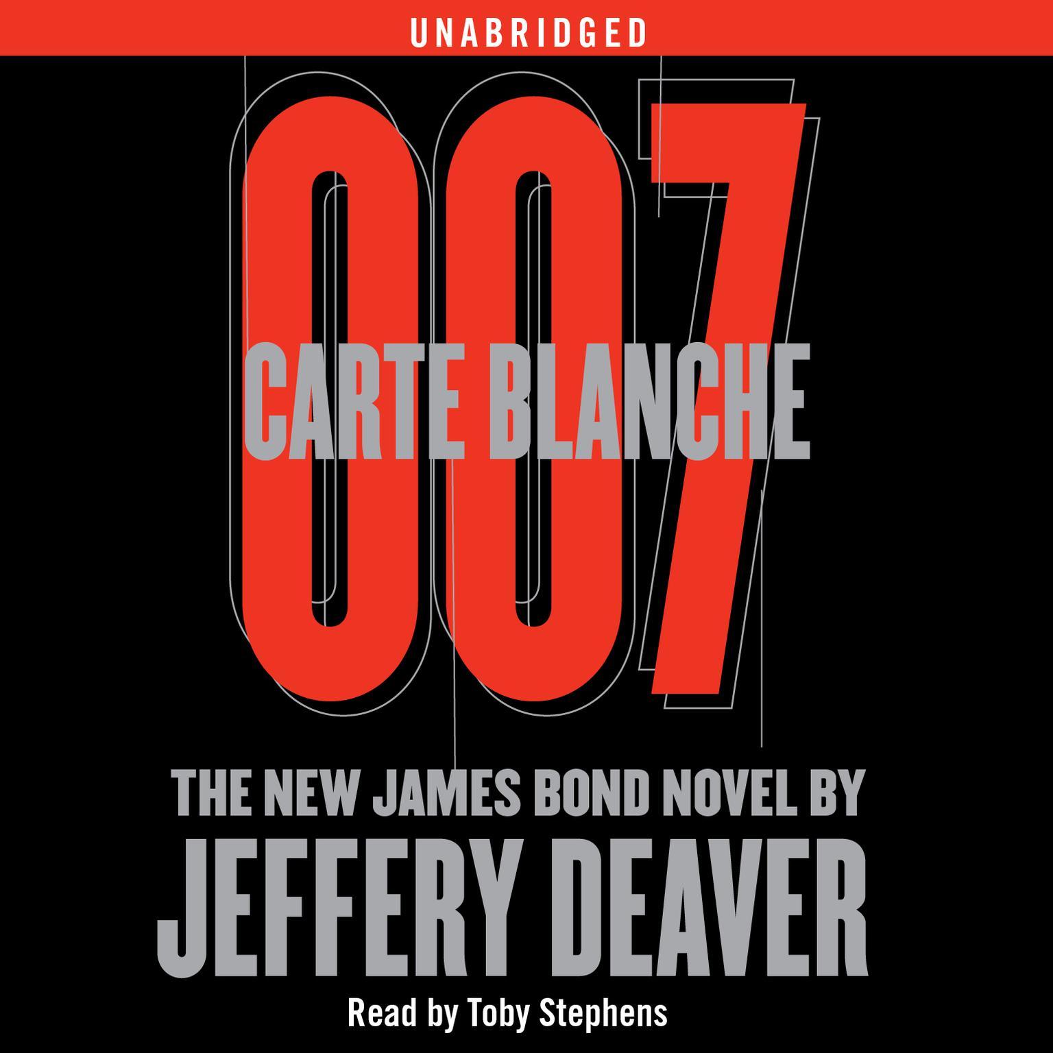 Printable Carte Blanche: The New James Bond Novel Audiobook Cover Art