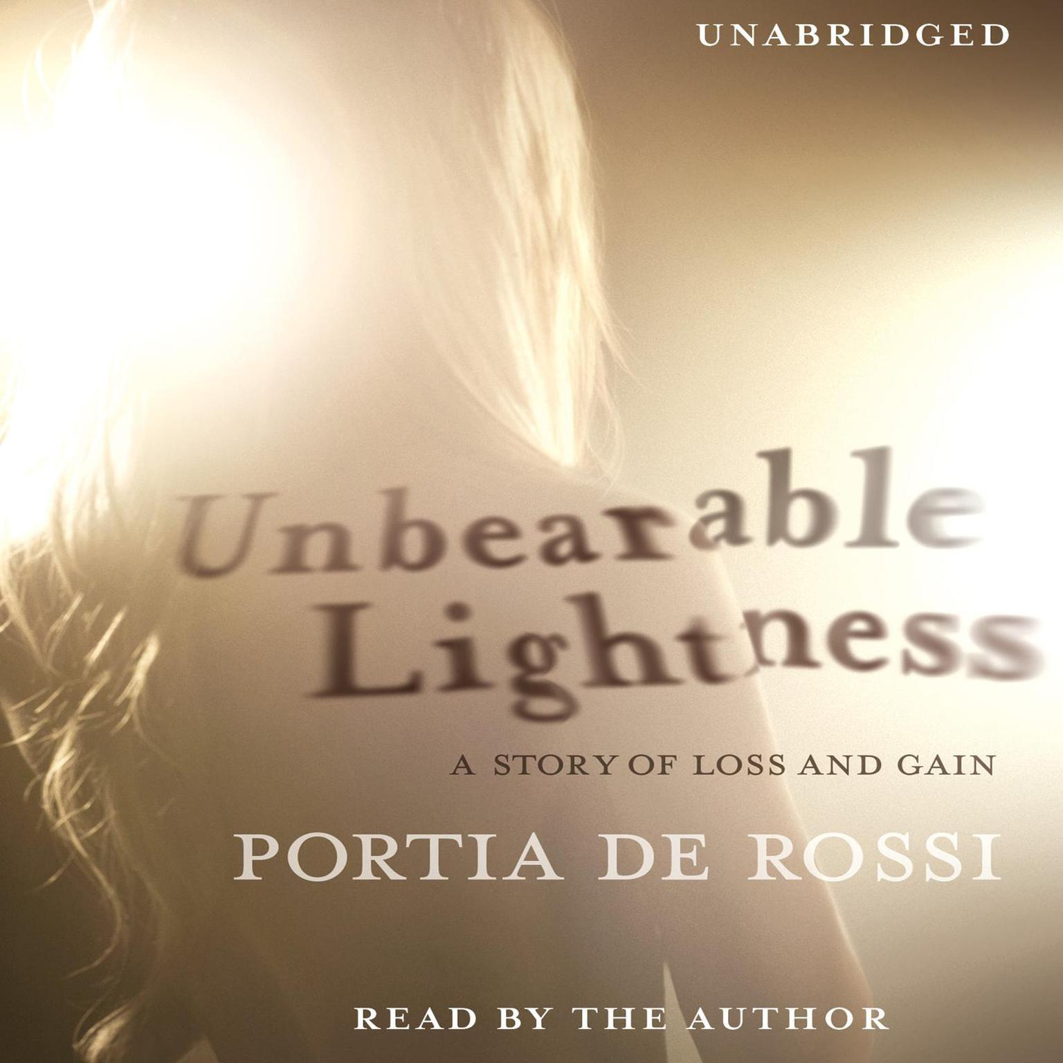 Printable Unbearable Lightness: A Story of Loss and Gain Audiobook Cover Art