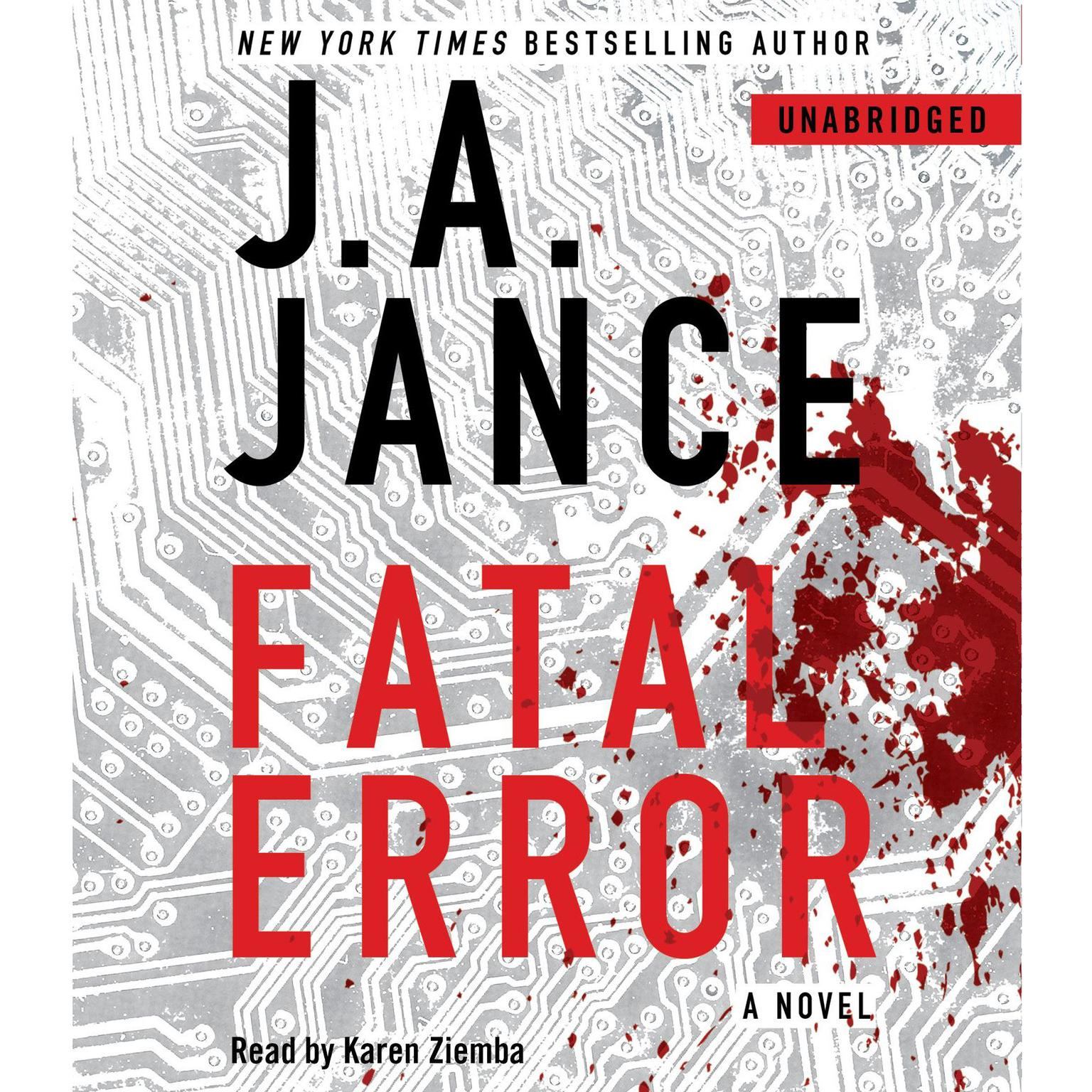 Printable Fatal Error: A Novel Audiobook Cover Art