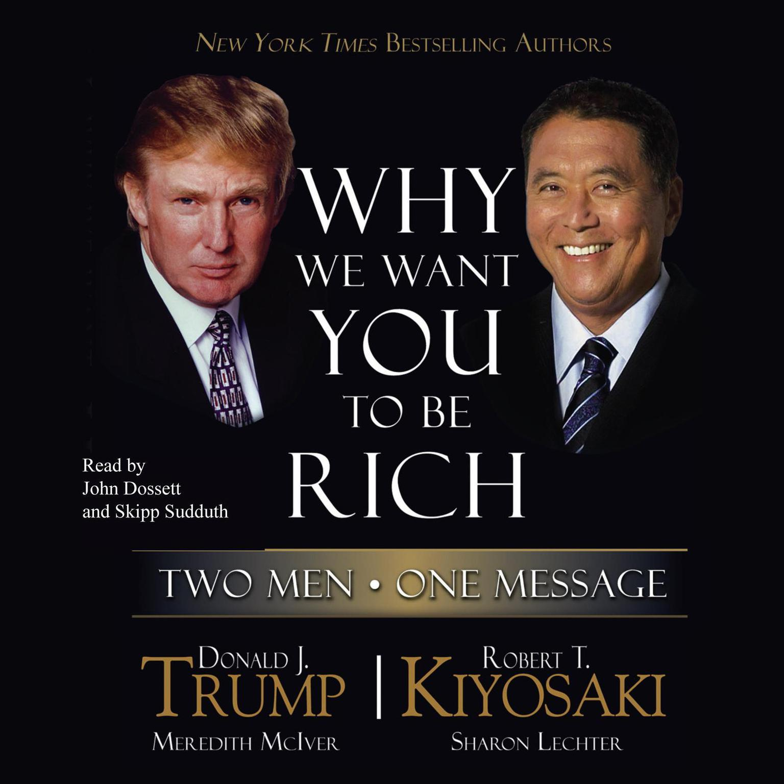 Printable Why We Want You to Be Rich: Two Men, One Message Audiobook Cover Art