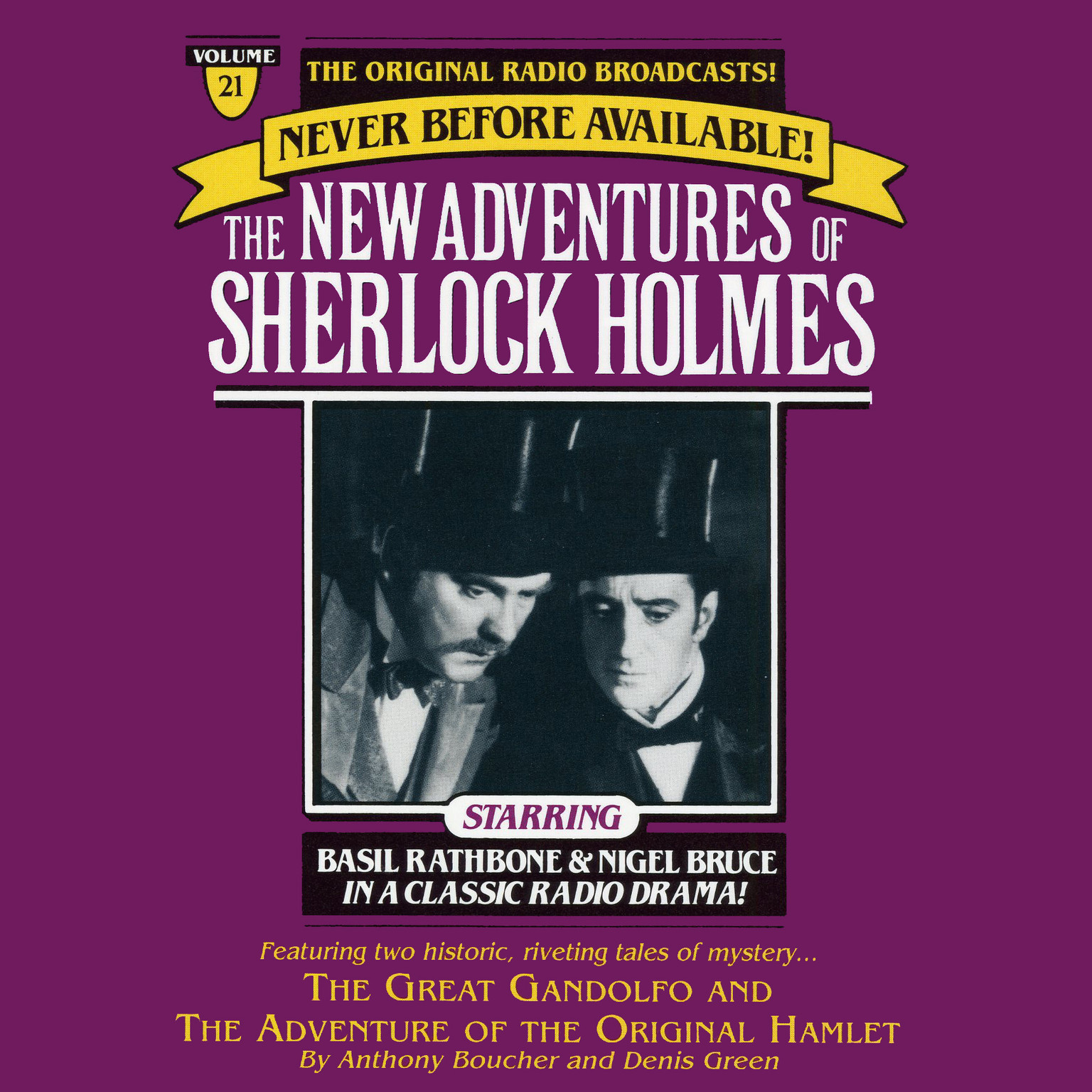 Printable The Great Gondolofo and The Adventure of the Original Hamlet: The New Adventures of Sherlock Holmes, Episode 21 Audiobook Cover Art