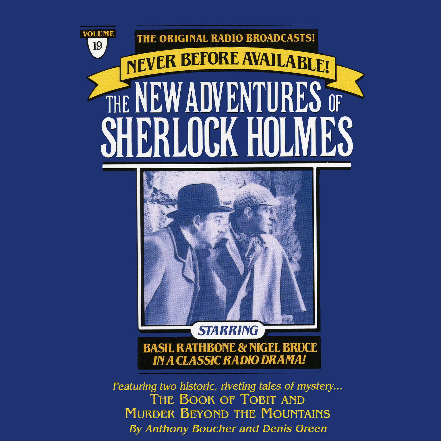 Printable The Book of Tobit and The Murder Beyond the Mountains: The New Adventures of Sherlock Holmes, Episode 19 Audiobook Cover Art