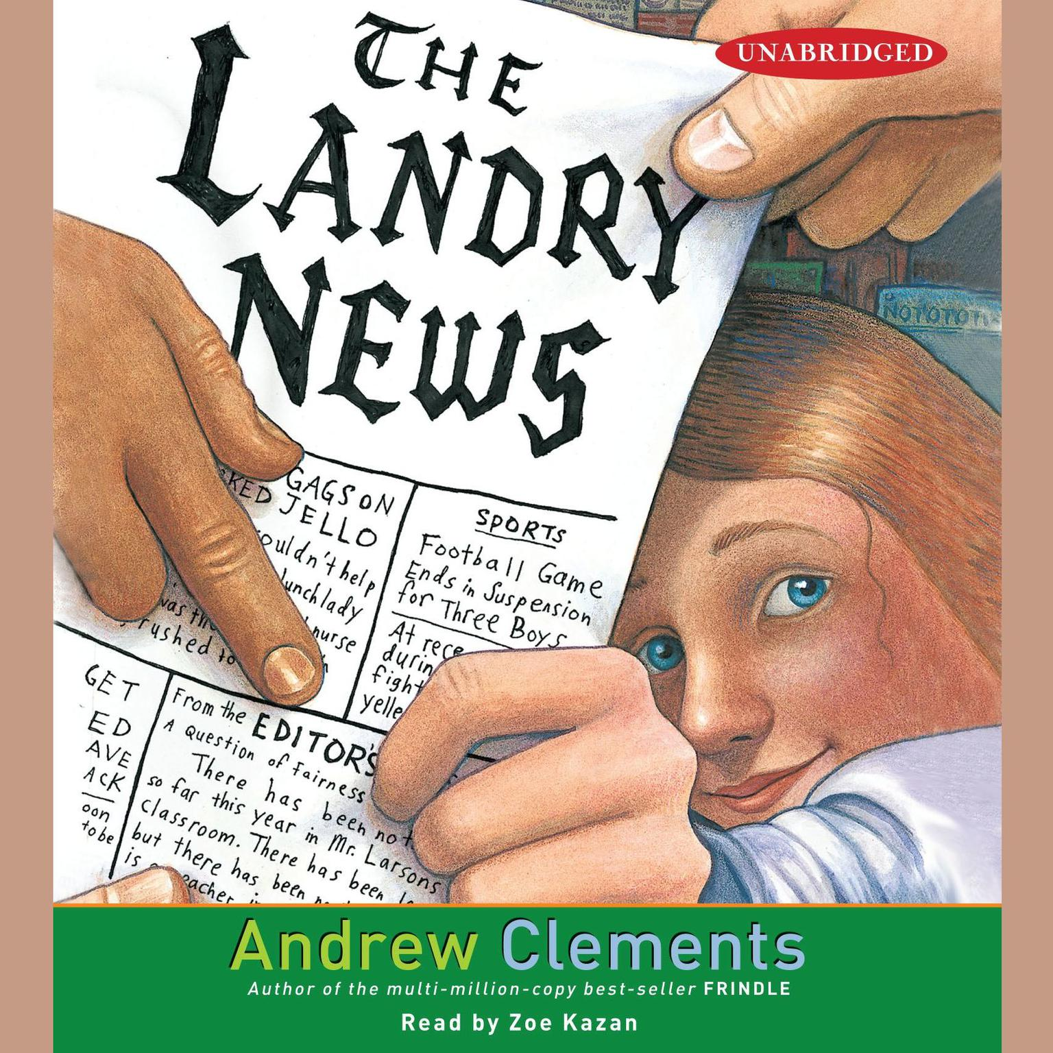 Printable The Landry News Audiobook Cover Art