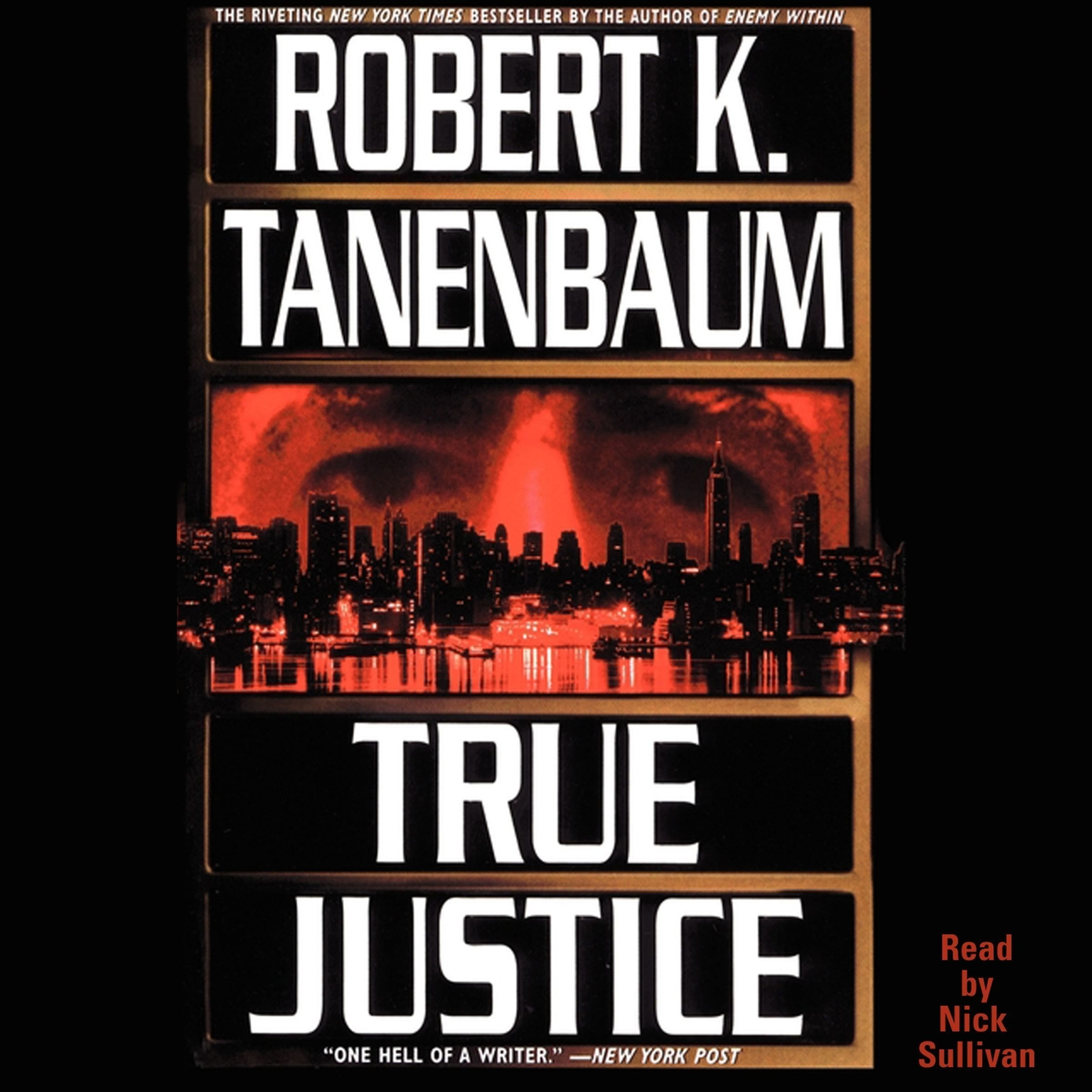 Printable True Justice Audiobook Cover Art