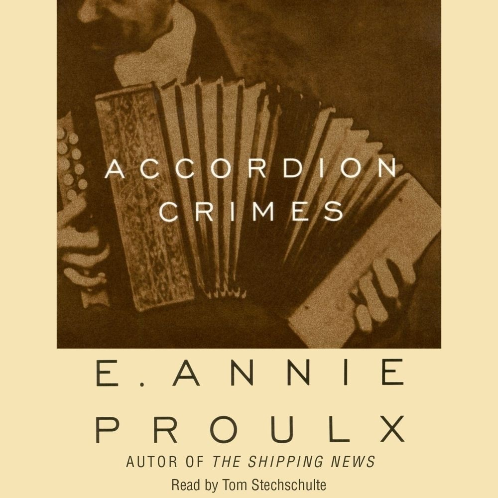 Printable Accordion Crimes Audiobook Cover Art