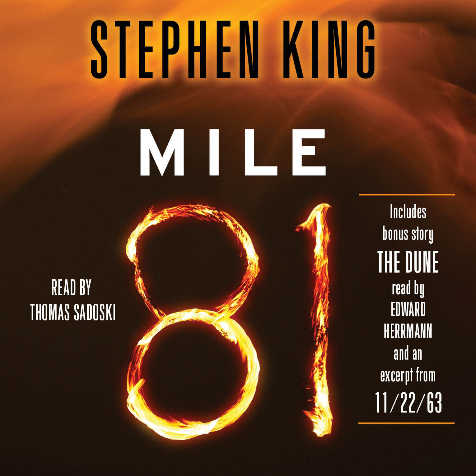Printable Mile 81: Includes bonus story 'The Dune' Audiobook Cover Art