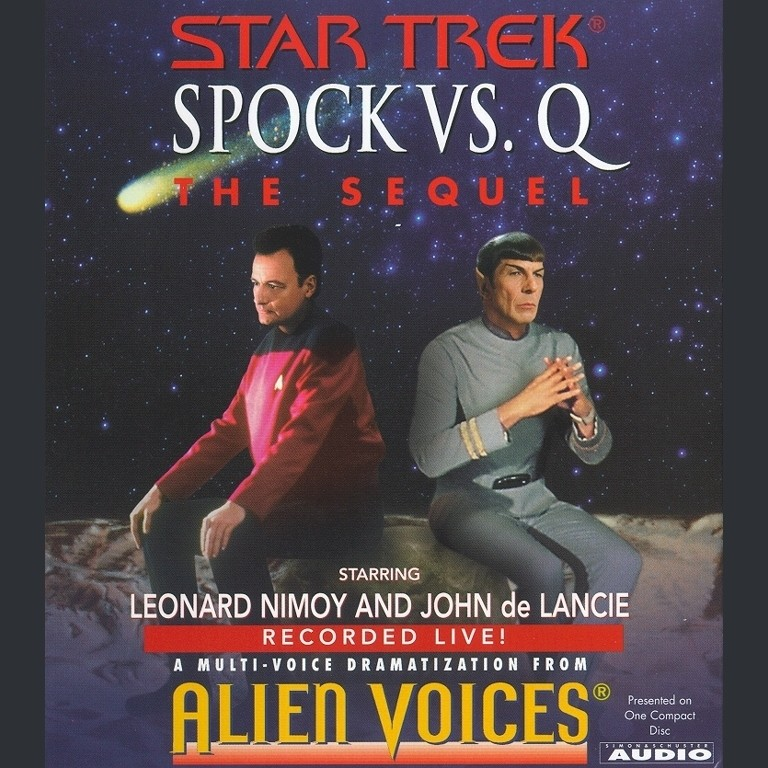 Printable Star Trek: Spock Vs. Q: The Sequel Audiobook Cover Art