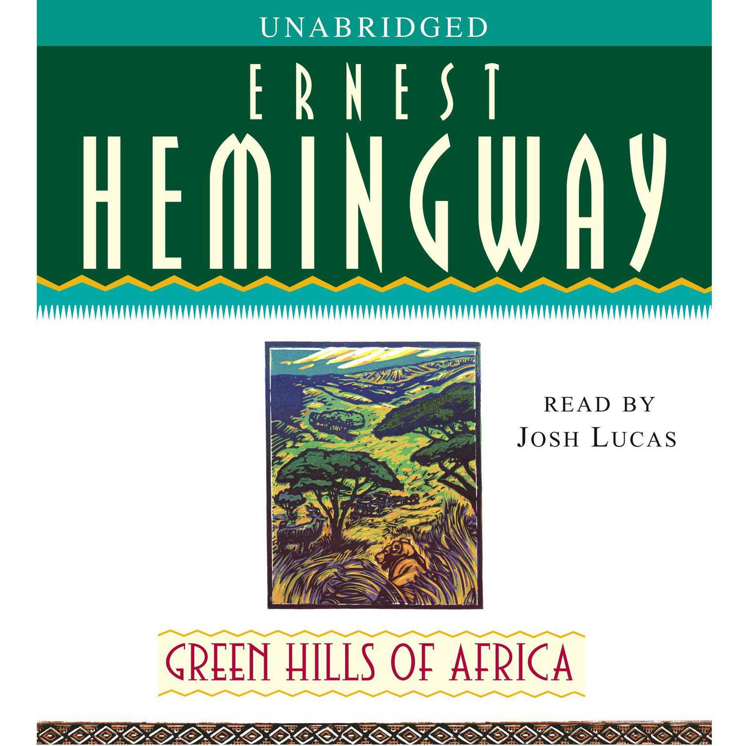 Printable Green Hills of Africa Audiobook Cover Art