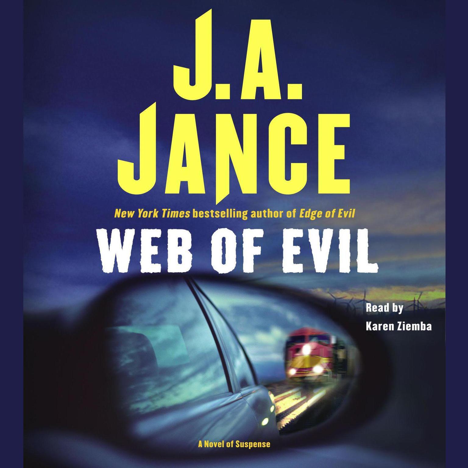 Printable Web of Evil Audiobook Cover Art