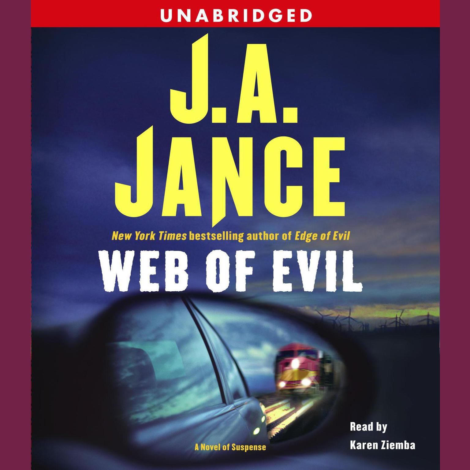 Printable Web of Evil: A Novel of Suspense Audiobook Cover Art