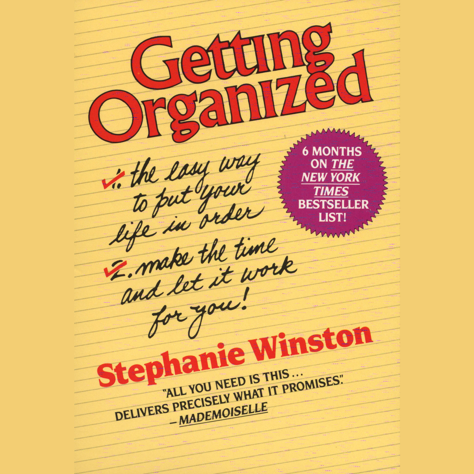Printable Getting Organized Audiobook Cover Art