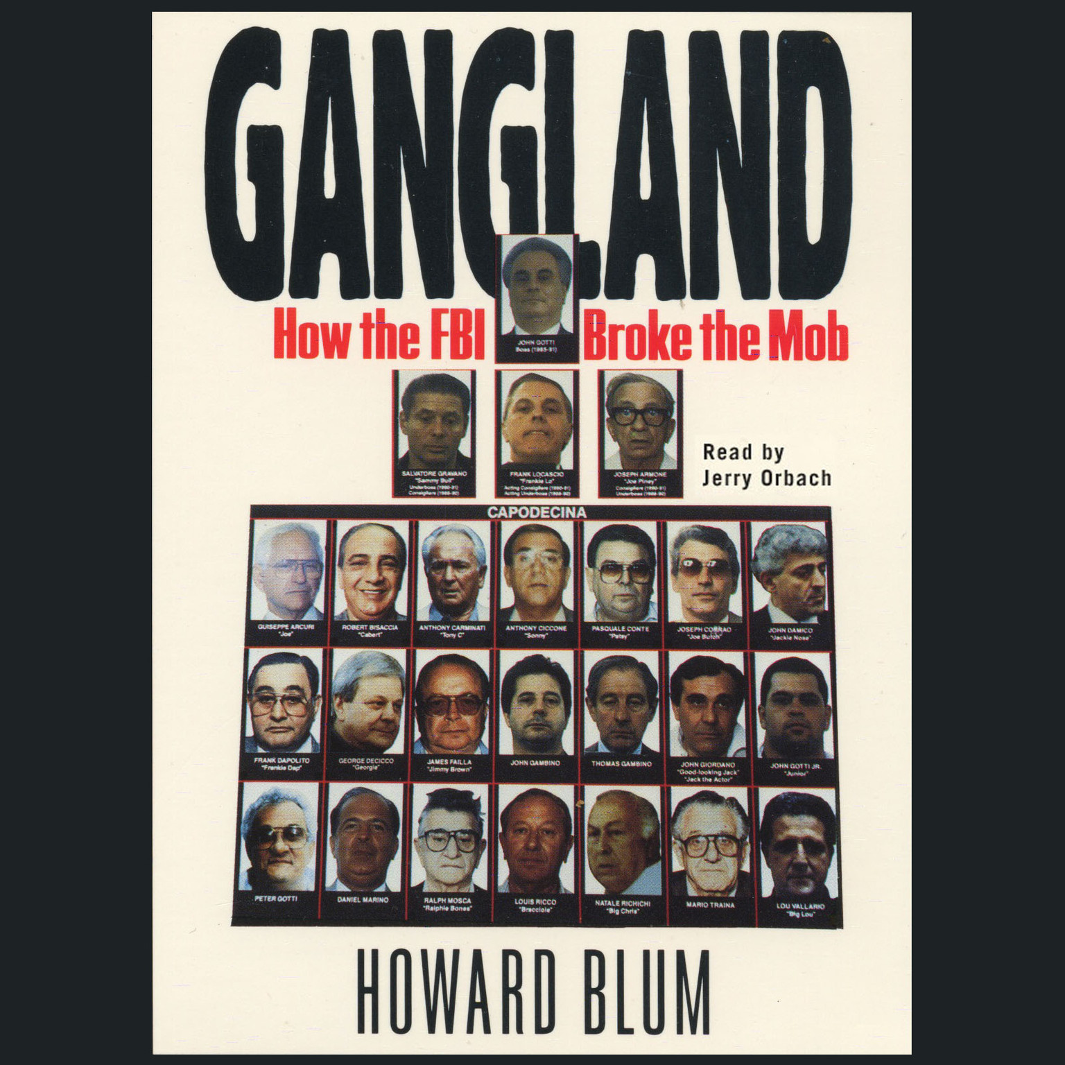 Printable Gangland: How the FBI Broke the Mob Audiobook Cover Art