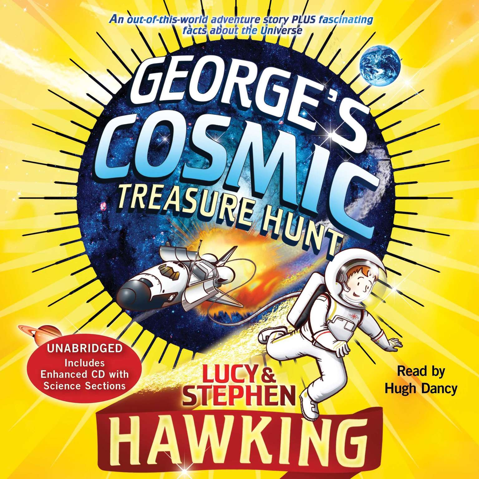 Printable George's Cosmic Treasure Hunt Audiobook Cover Art