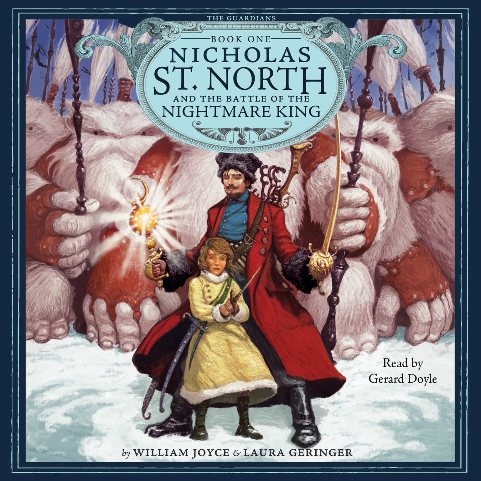 Printable Nicholas St. North and the Battle of the Nightmare King Audiobook Cover Art