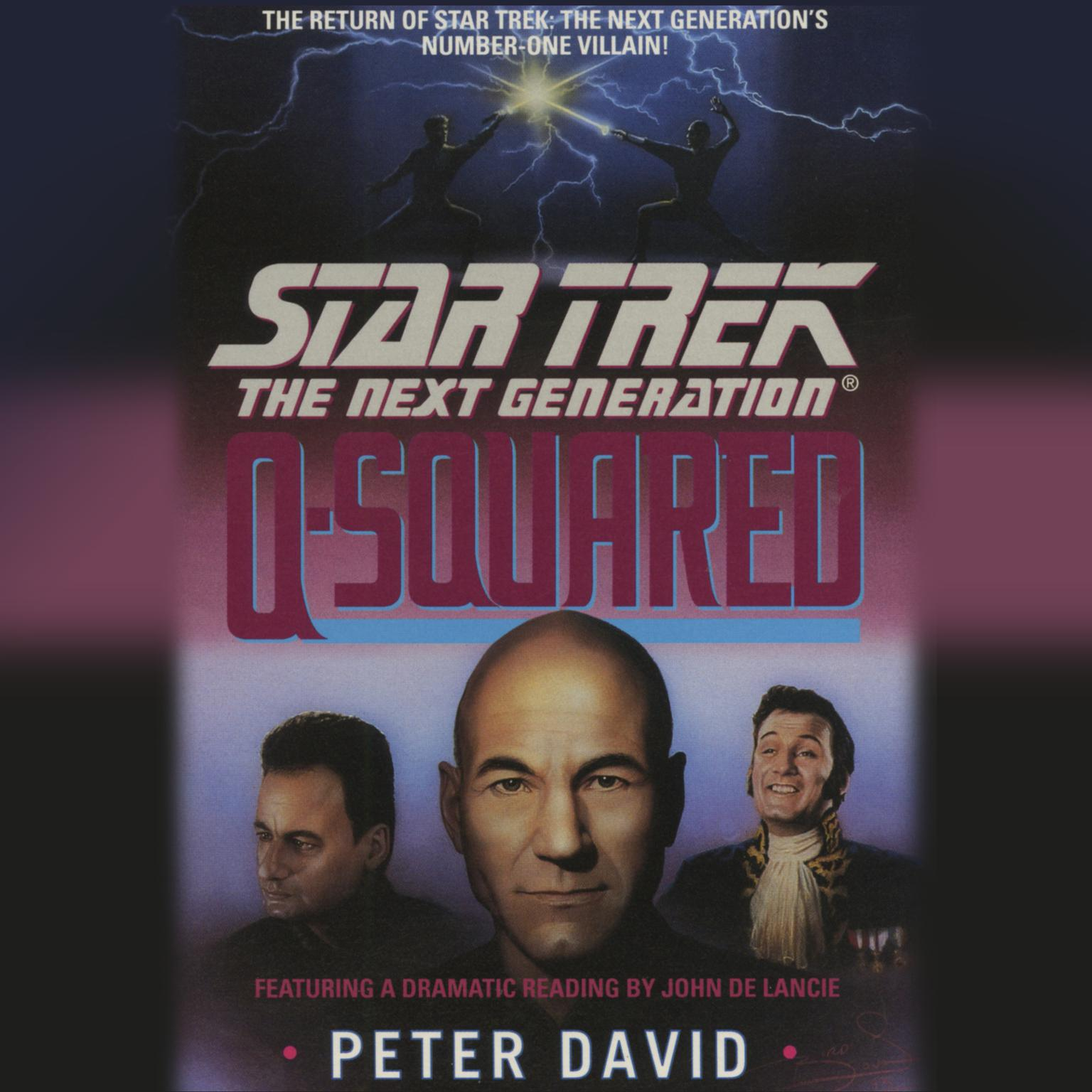 Printable Star Trek the Next Generation: Q-Squared Audiobook Cover Art