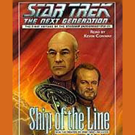 Printable Star Trek the Next Generation: Ship of Line Audiobook Cover Art