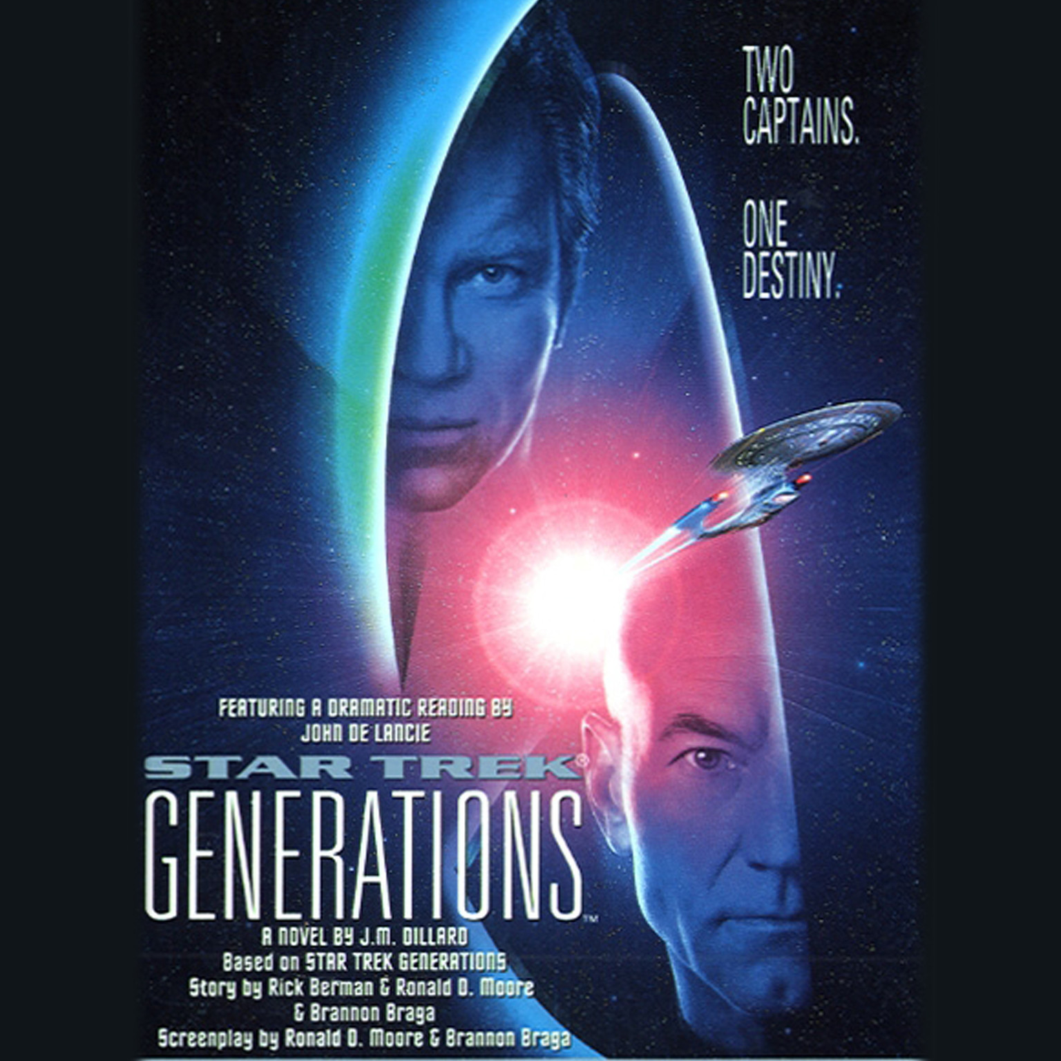 Printable Star Trek: Generations Audiobook Cover Art