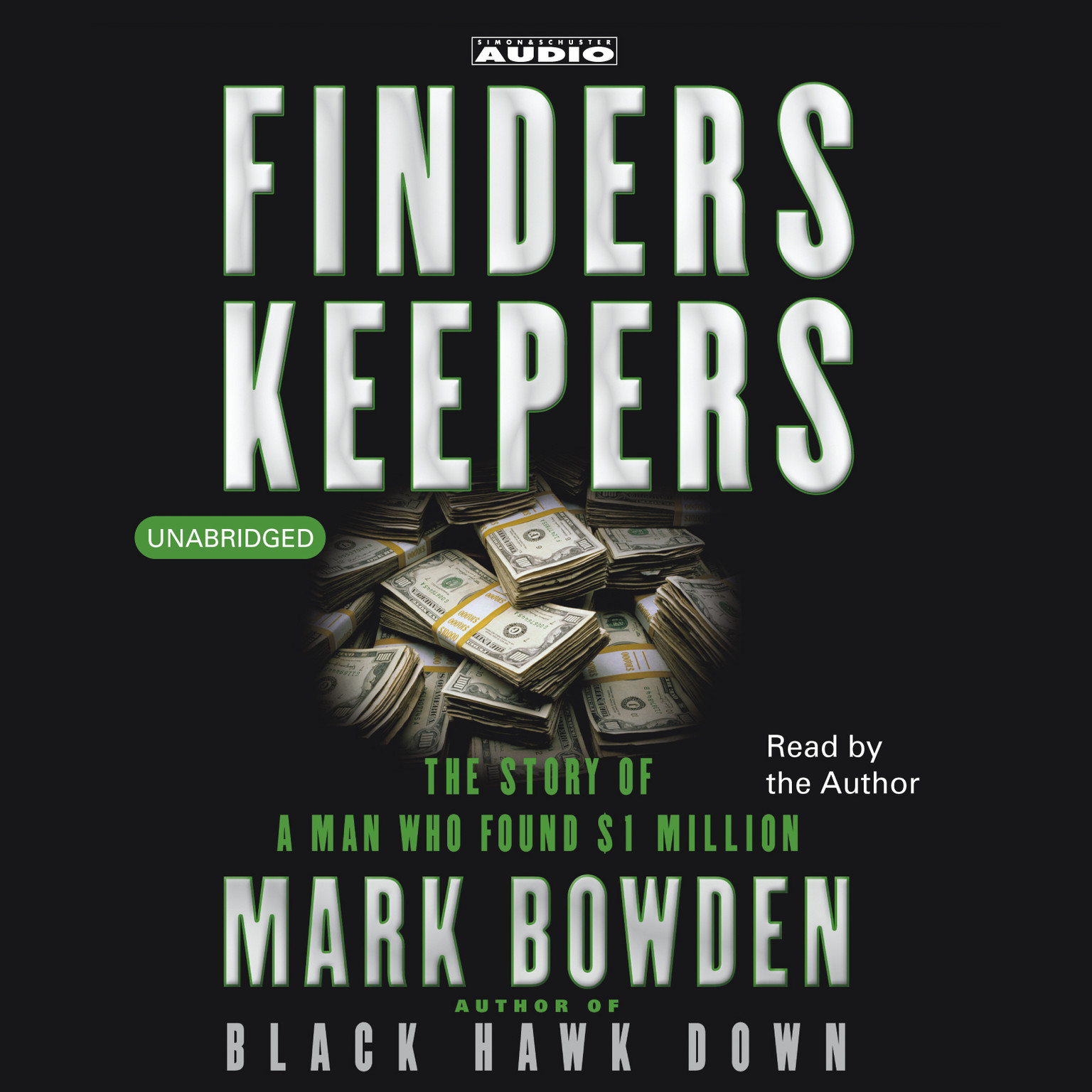 Printable Finders Keepers: The Story of a Man who found $1 Million Audiobook Cover Art