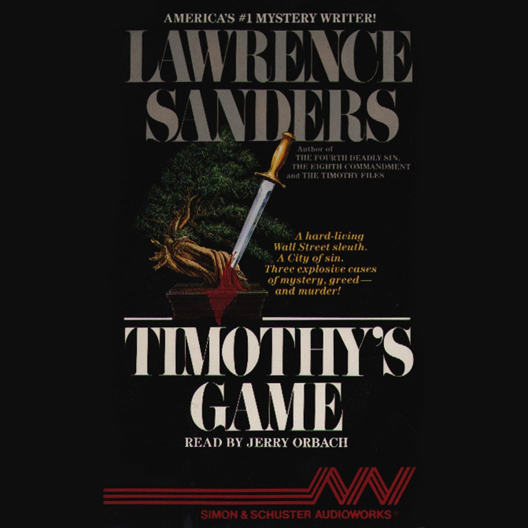 Printable Timothy's Game Audiobook Cover Art