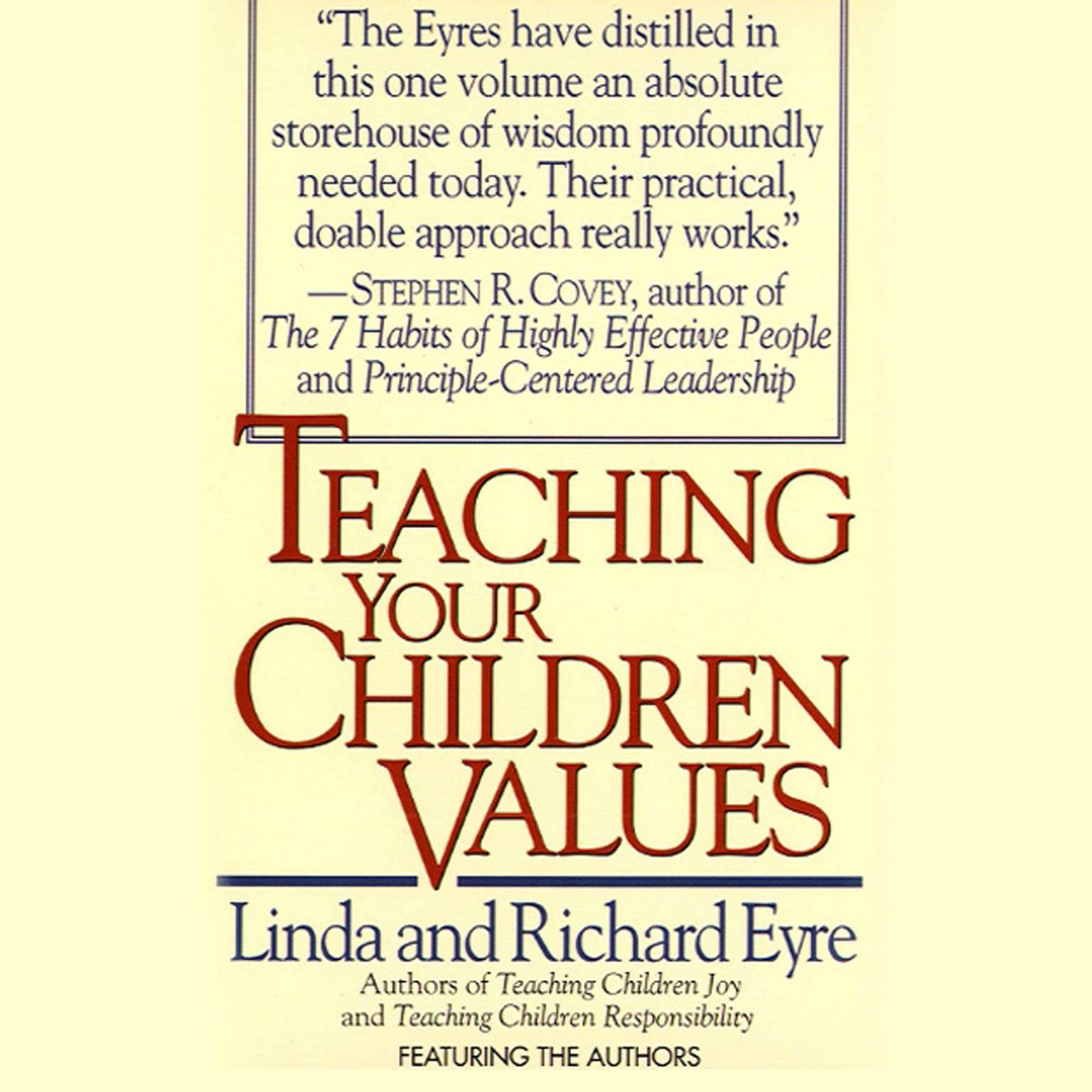 Printable Teaching Your Children Values Audiobook Cover Art
