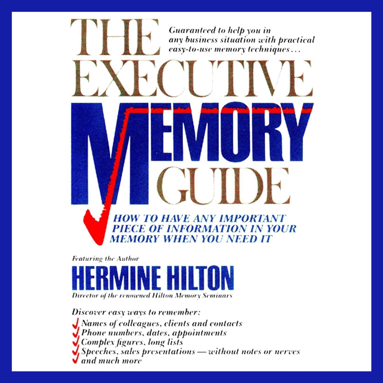 Printable The Executive Memory Guide Audiobook Cover Art