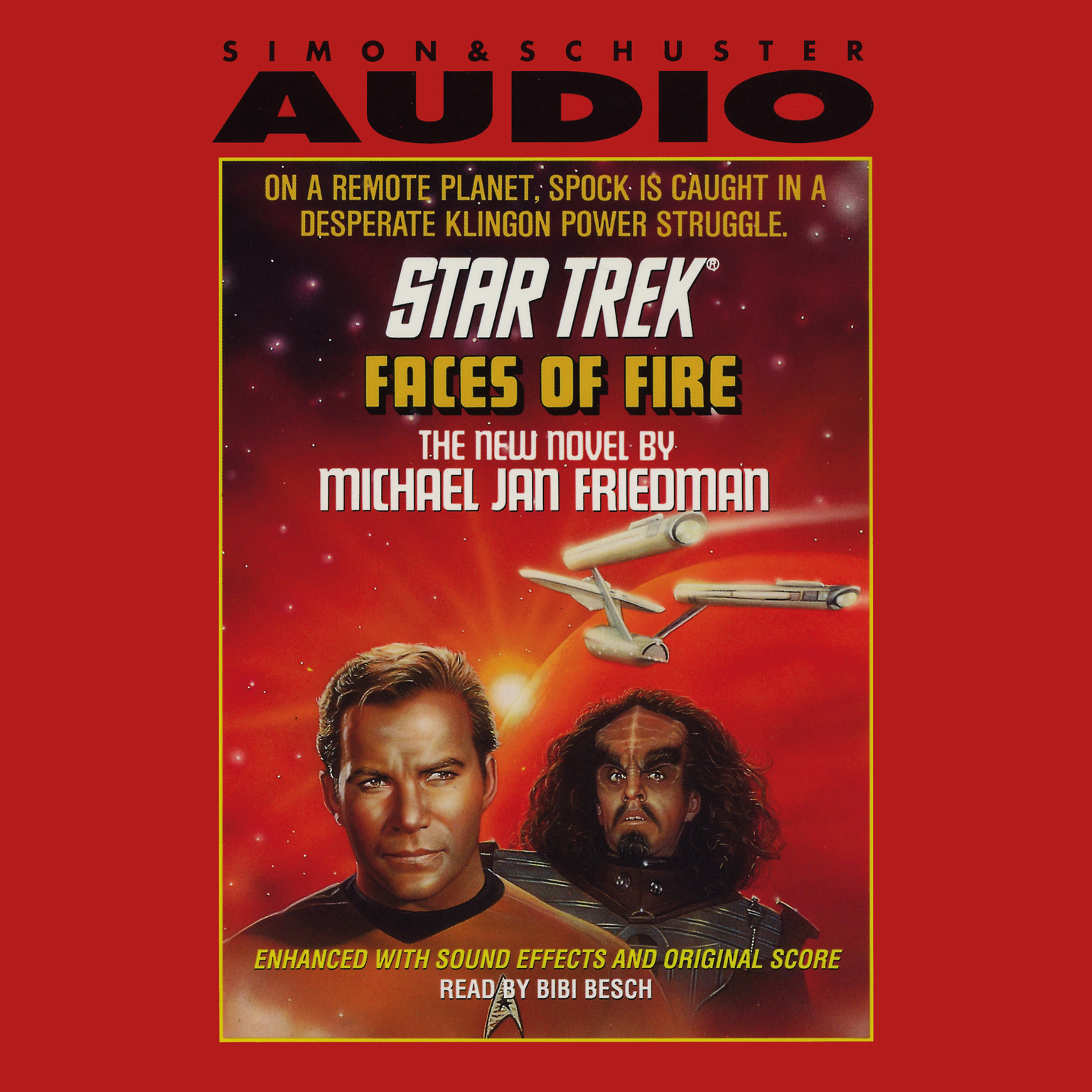 Printable Star Trek: Faces of Fire Audiobook Cover Art