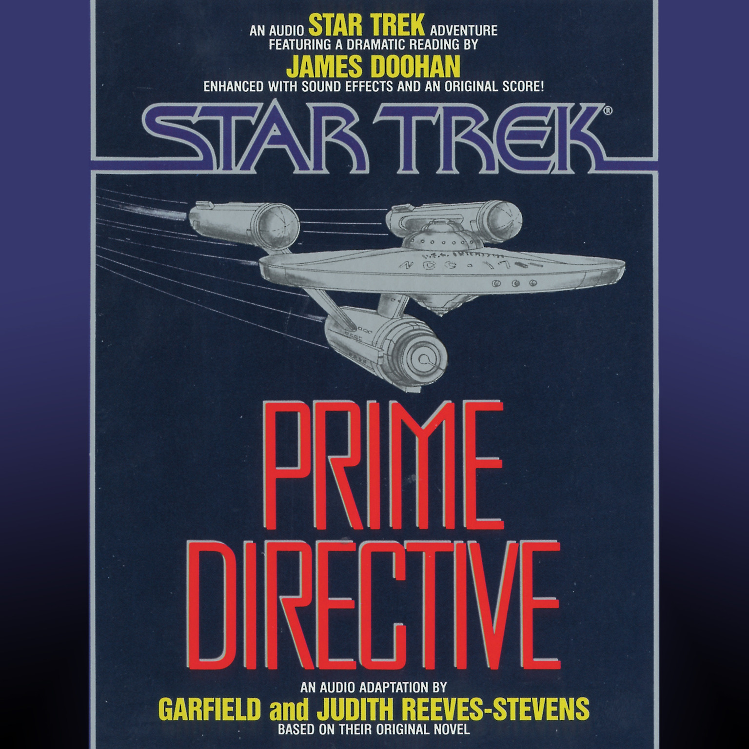 Printable Star Trek: Prime Directive Audiobook Cover Art