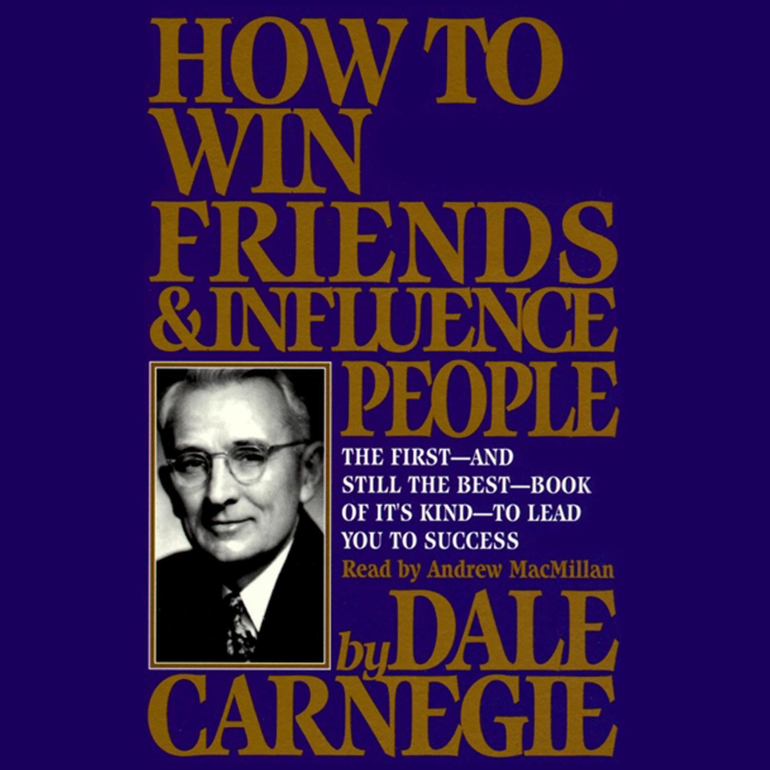 Printable How to Win Friends and Influence People Audiobook Cover Art