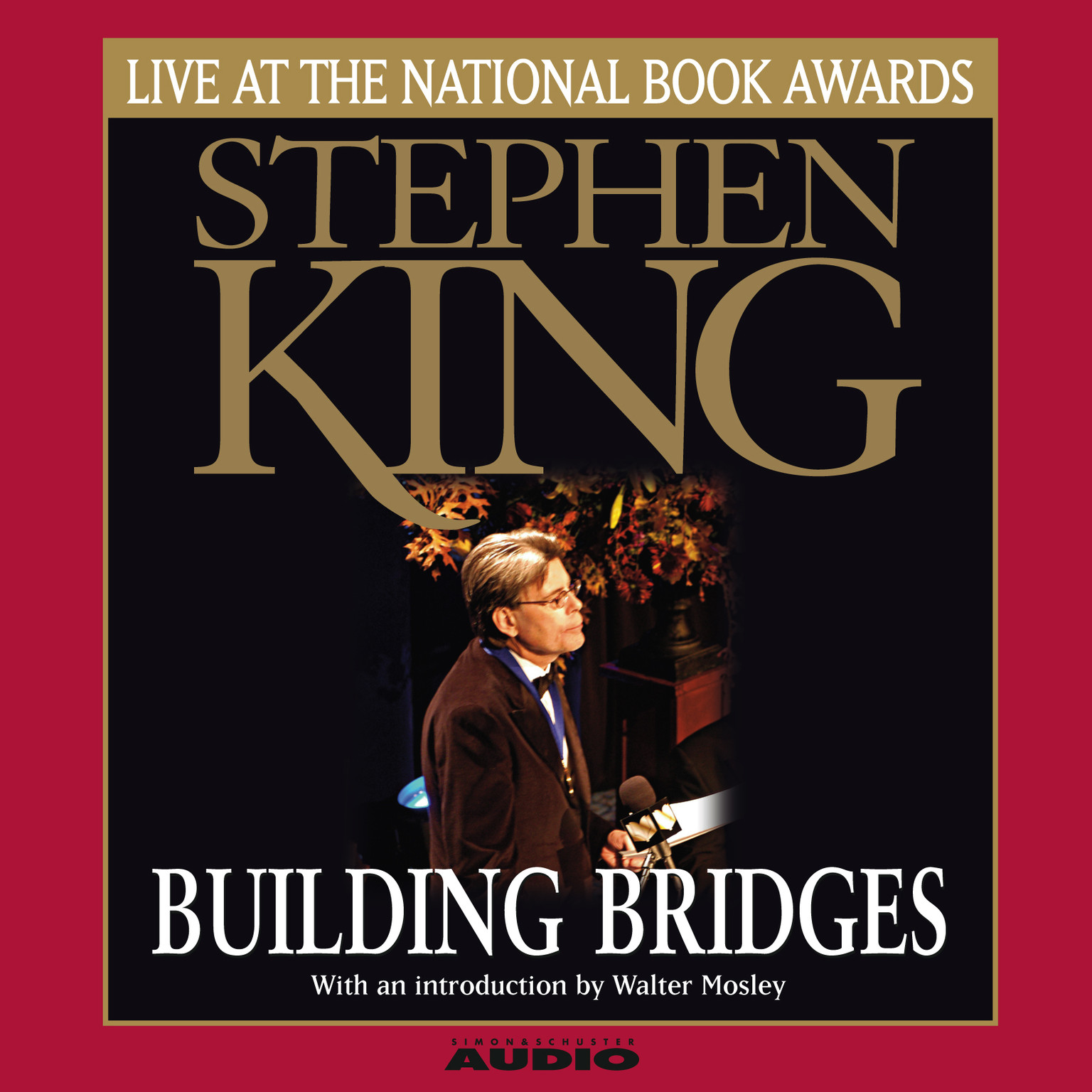 Printable Building Bridges: Stephen King Live at the National Book Awards Audiobook Cover Art