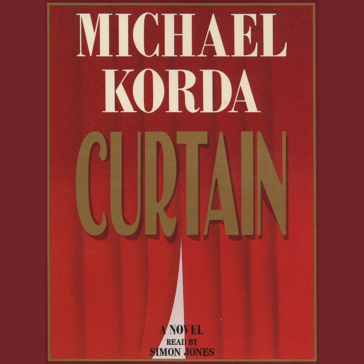 Printable Curtain Audiobook Cover Art