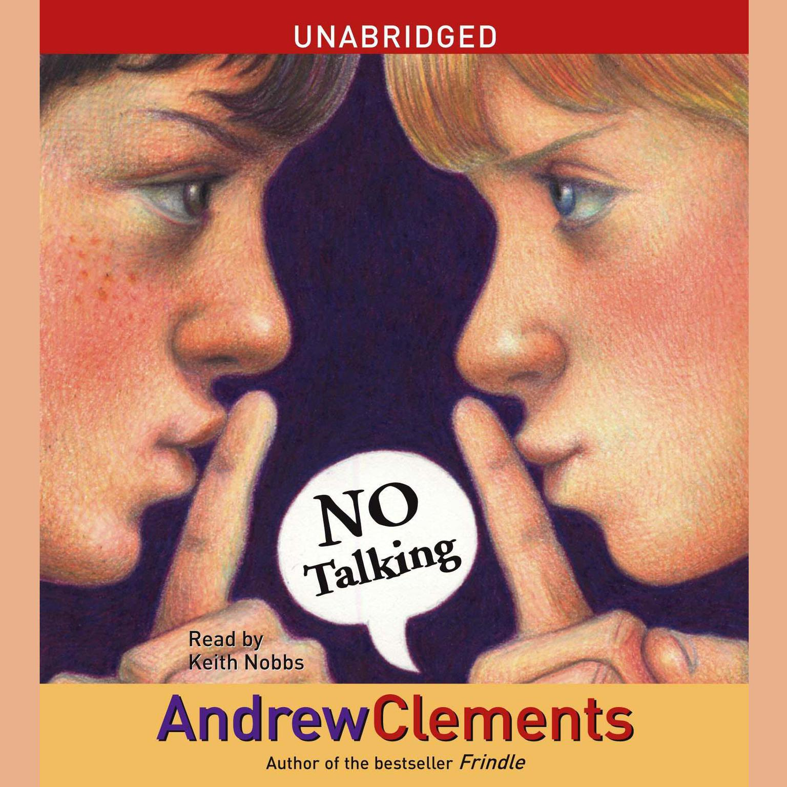 Printable No Talking Audiobook Cover Art