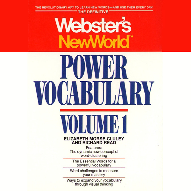 Printable Webster's New World Power Vocabulary Audiobook Cover Art