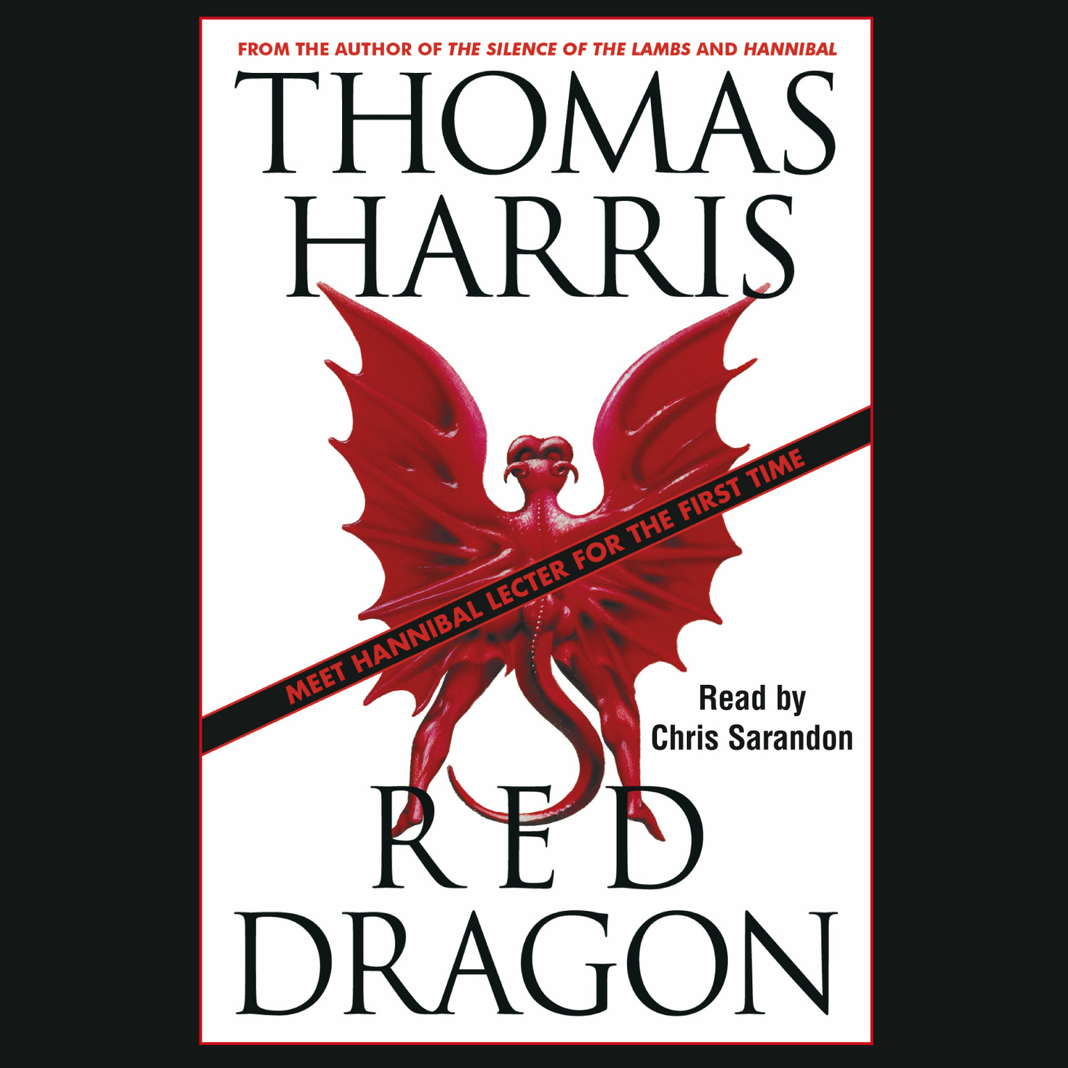 Printable Red Dragon Audiobook Cover Art