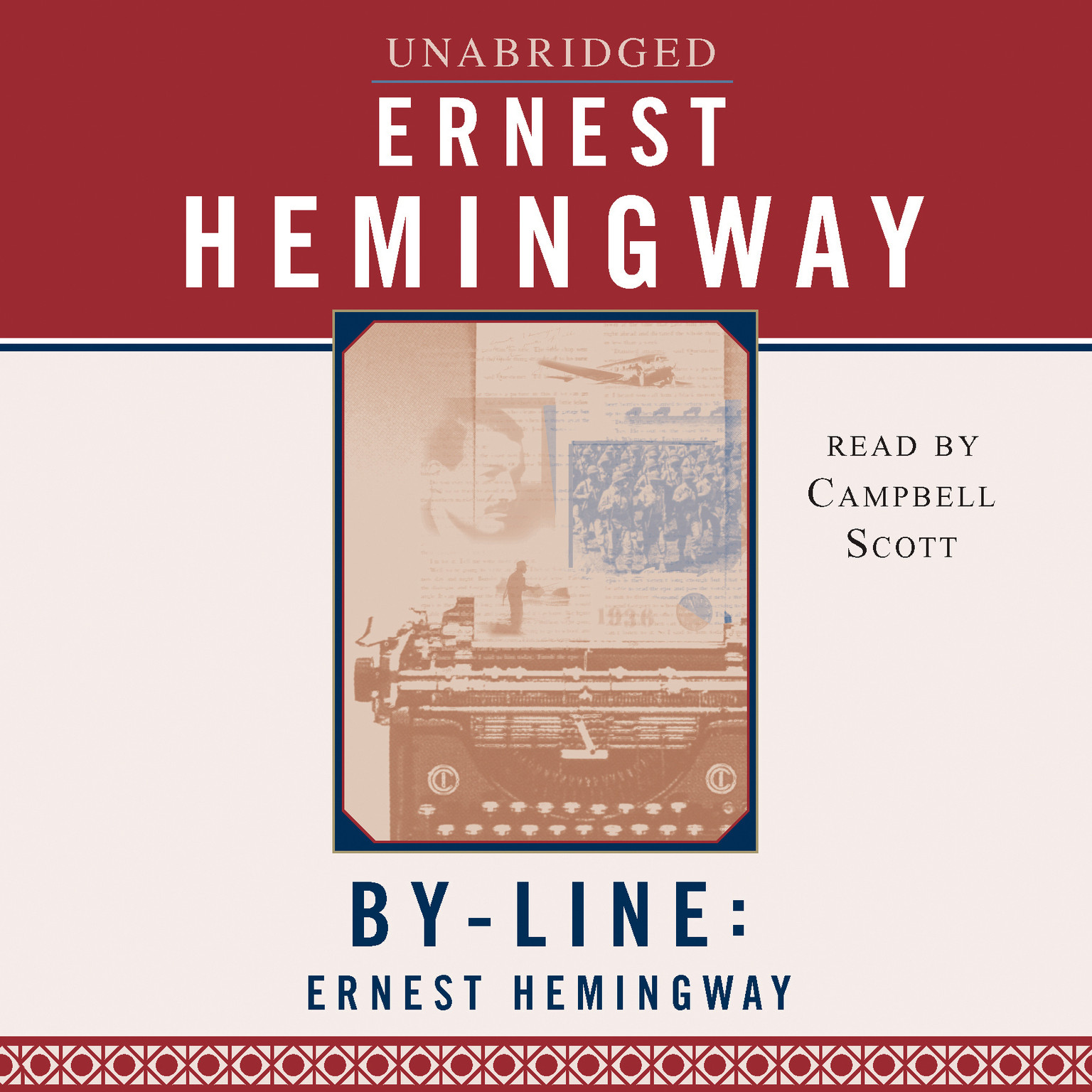 Printable Byline: Ernest Hemingway Audiobook Cover Art