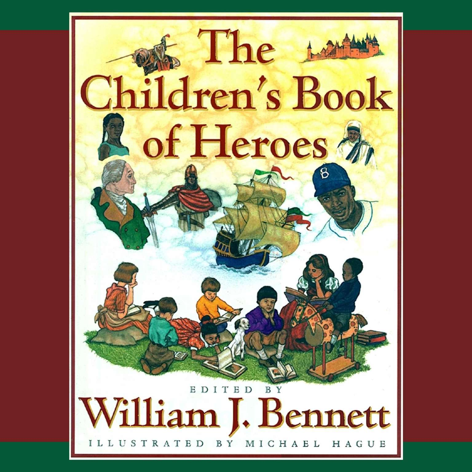 Printable The Children's Book of Heroes Audiobook Cover Art