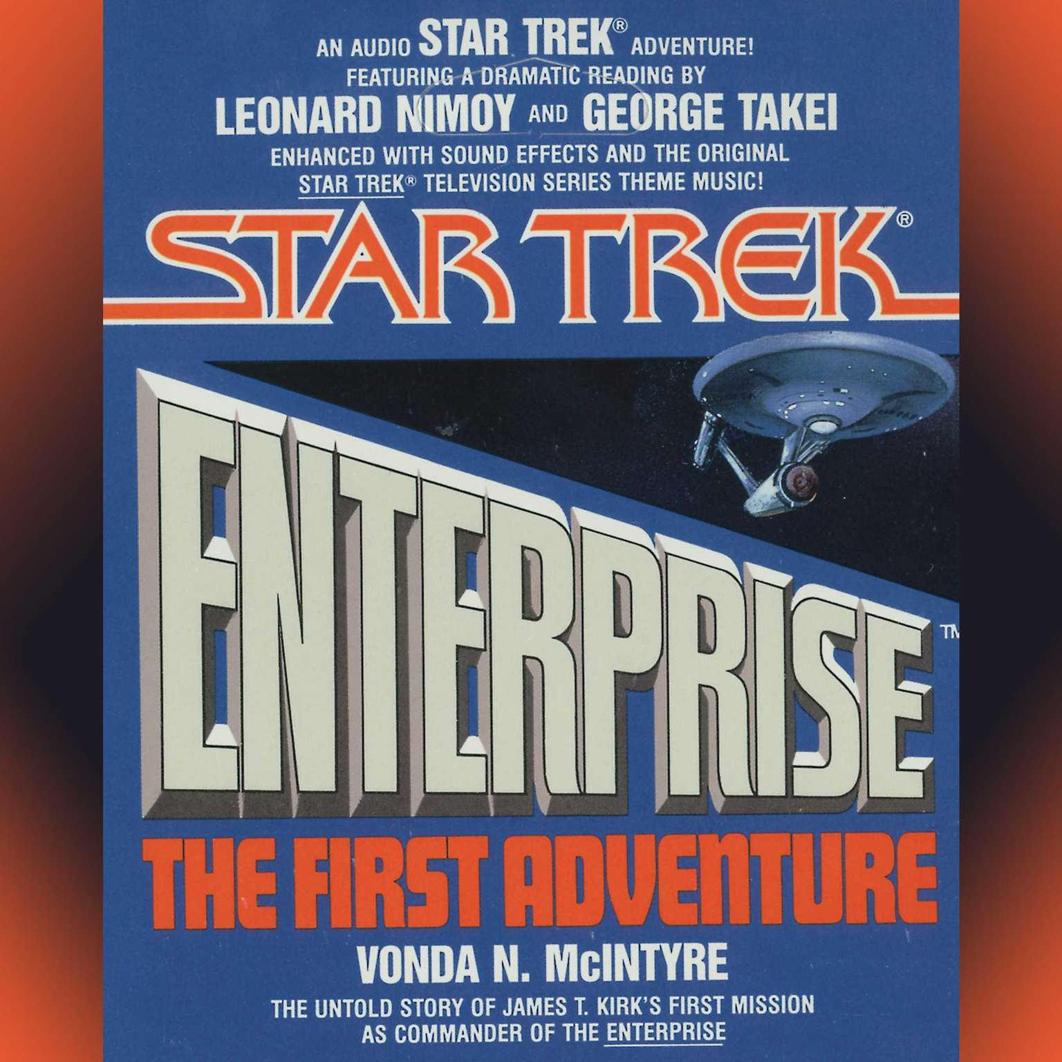 Printable Star Trek Enterprise: the First Adventure: The First Adventure Audiobook Cover Art