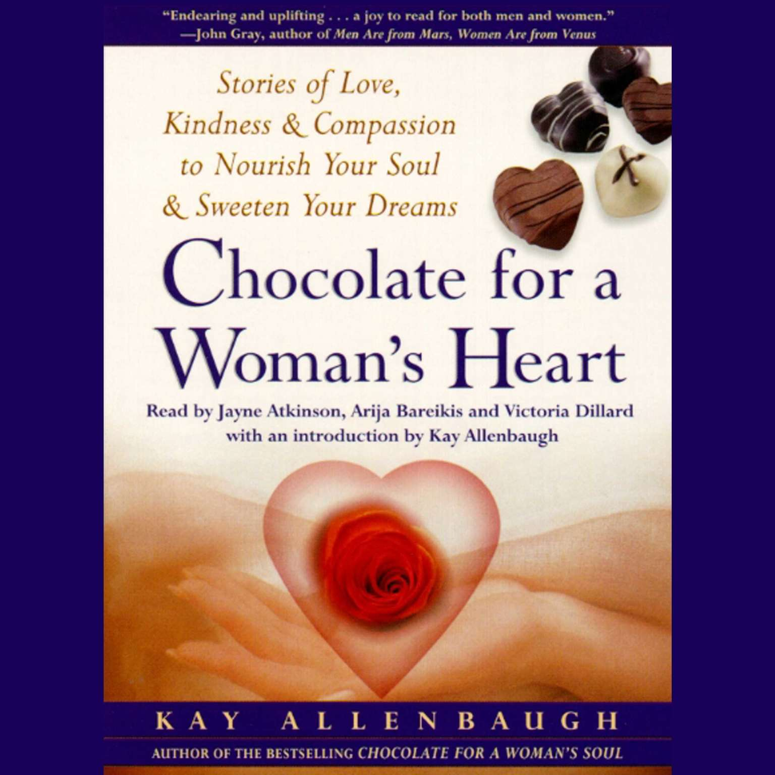 Printable Chocolate for A Woman's Heart: Stories of Love, Kindness, and Compassion to Nourish Your Soul and Sweeten Your Dreams Audiobook Cover Art